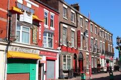 唐人街在利物浦,英国 库存图片