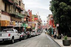 唐人街在旧金山,加利福尼亚 库存图片