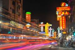 唐人街在曼谷-泰国 免版税图库摄影