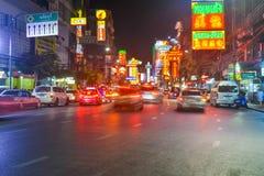 唐人街在曼谷-泰国 图库摄影