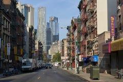 唐人街在纽约 库存图片