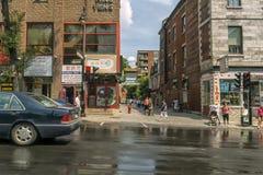 唐人街在蒙特利尔 库存图片
