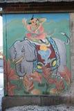 唐人街墙壁壁画 库存图片