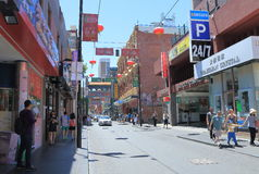 唐人街墨尔本澳大利亚 库存照片
