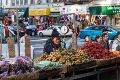 唐人街市场在纽约失去作用 免版税库存照片
