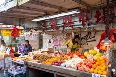唐人街市场在纽约 库存照片