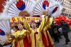 唐人街新的游行年 库存图片