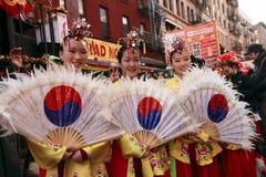 唐人街新的游行年 免版税图库摄影