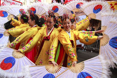 唐人街新的游行年 免版税库存图片
