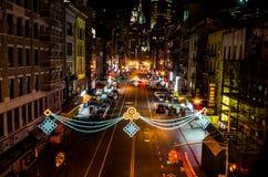 唐人街晚上 免版税库存照片