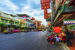 唐人街曼谷大街 库存图片