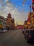 唐人街芝加哥 库存图片
