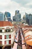 唐人街购物新加坡 库存照片