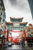 唐人街,伦敦 免版税图库摄影