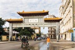 唐人街,哈瓦那,古巴 免版税库存照片