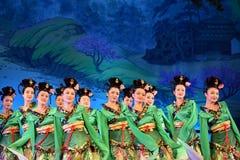 唐代在XI的`,中国的舞蹈展示 免版税图库摄影