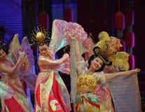 唐代在XI的`,中国的舞蹈展示 免版税库存照片