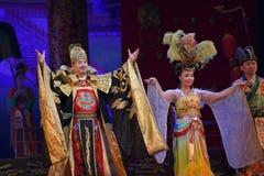 唐代在XI的`,中国的舞蹈展示 库存图片