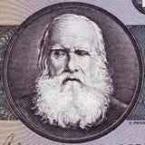 唐佩德罗II 1825 - 1891在巴西人10克鲁赛罗1的画象 库存图片