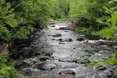 唐卡斯特河小瀑布 库存照片
