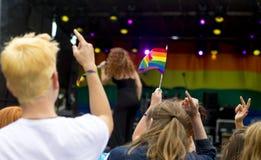 唐卡斯特自豪感8月19日2016 LGBT节日 免版税库存图片