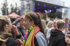 唐卡斯特自豪感8月19日2017 LGBT节日 库存图片