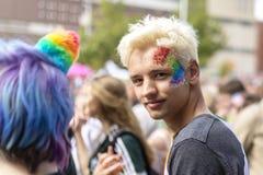 唐卡斯特自豪感8月19日2017 LGBT节日 库存照片