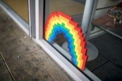 唐卡斯特自豪感8月19日2017 LGBT节日lego自豪感Priderainb 免版税库存图片