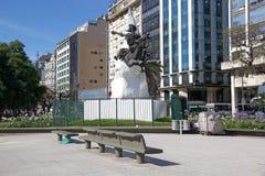 唐吉诃德雕象在布宜诺斯艾利斯,阿根廷 库存图片