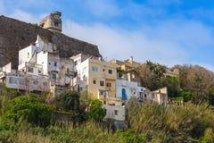 唐基尔,摩洛哥麦地那 老五颜六色的生存房子 库存图片