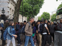 唐宁街在伦敦 免版税库存图片