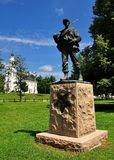 唐森, MA :南北战争纪念碑 图库摄影