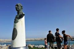 唐璜在著名Puerto Banus的de Borbon在马尔韦利亚,太阳海岸,西班牙 免版税库存照片