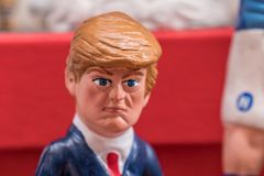 唐纳德・川普,著名小雕象在项 免版税库存照片
