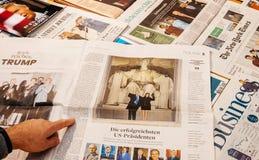 唐纳德・川普就职典礼梅拉尼亚王牌林肯纪念堂 免版税图库摄影