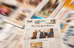 唐纳德・川普就职典礼纽约时报 免版税库存照片