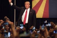 唐纳德・川普的第一次总统选举集会在菲尼斯 免版税库存照片