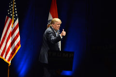 唐纳德・川普竞选在圣路易斯 免版税图库摄影