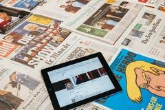 唐纳德・川普美国总统慌张帐户  图库摄影