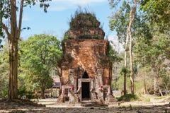 唐路骨角高棉废墟 免版税图库摄影