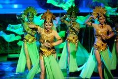 唐代--历史样式歌曲和舞蹈戏曲不可思议的魔术-淦Po 免版税库存照片