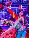 唐代舞蹈和音乐在阳光盛大剧院显示, 图库摄影