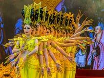 唐代舞蹈和音乐在阳光盛大剧院显示, 免版税库存图片