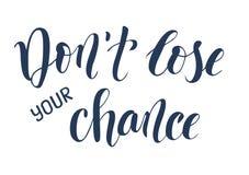 `唐` t丢失您的机会`刷子书法海报 图库摄影