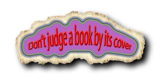 唐` t法官由它的盖子的一本书 免版税库存照片