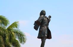 唐Blas de Lezo卡塔赫钠哥伦比亚雕象  库存照片