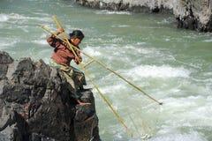 唐Khon海岛的湄公河老挝的 图库摄影