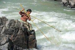 唐Khon海岛的湄公河老挝的 库存图片