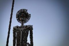 唐Quijote de la mancha雕塑  免版税库存照片