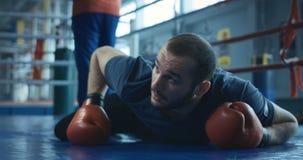 唤醒从的拳击手敲下来 股票视频